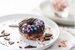 Baked Birthday Sprinkle Donuts