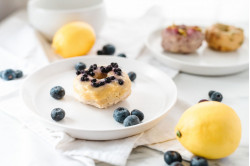 Baked Blueberry Lemon Donuts